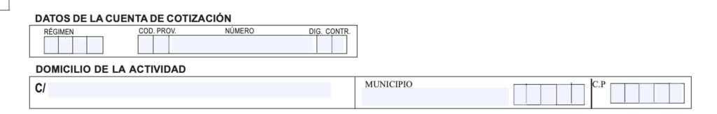 Datos de cotización de la empleada del hogar.