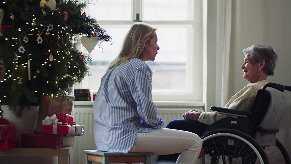 ancianos en soledad en la navidad
