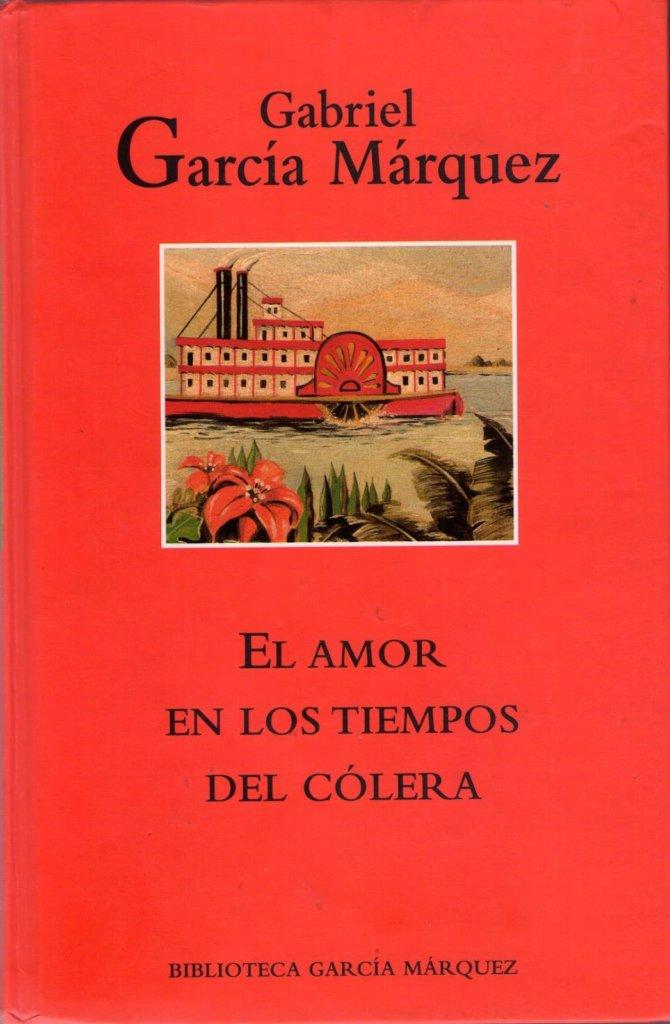 Portada del libro El amor en tiempos de cólera.