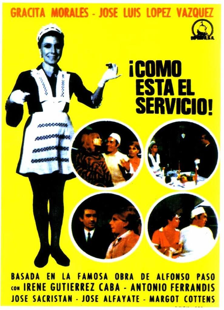 Cartel de la palícula de CIne de Barrio como está el servicio (1968)