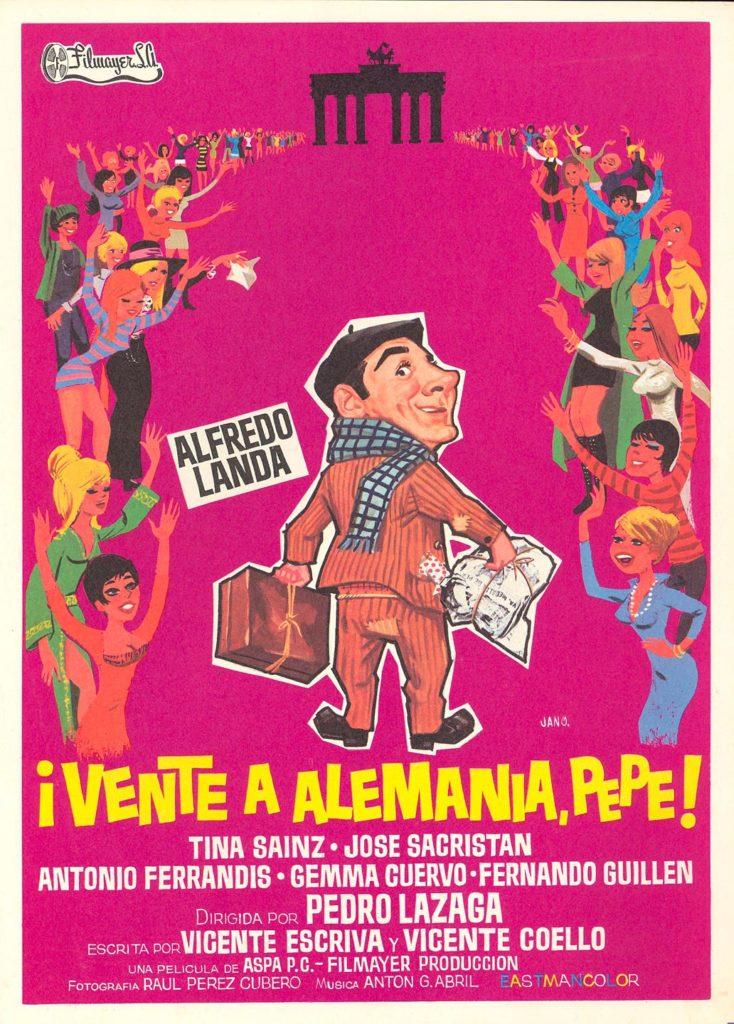 Cartel de la película de Alfredo Landa: Vente para Alemania Pepe, un clásico de 'Cine de Barrio'