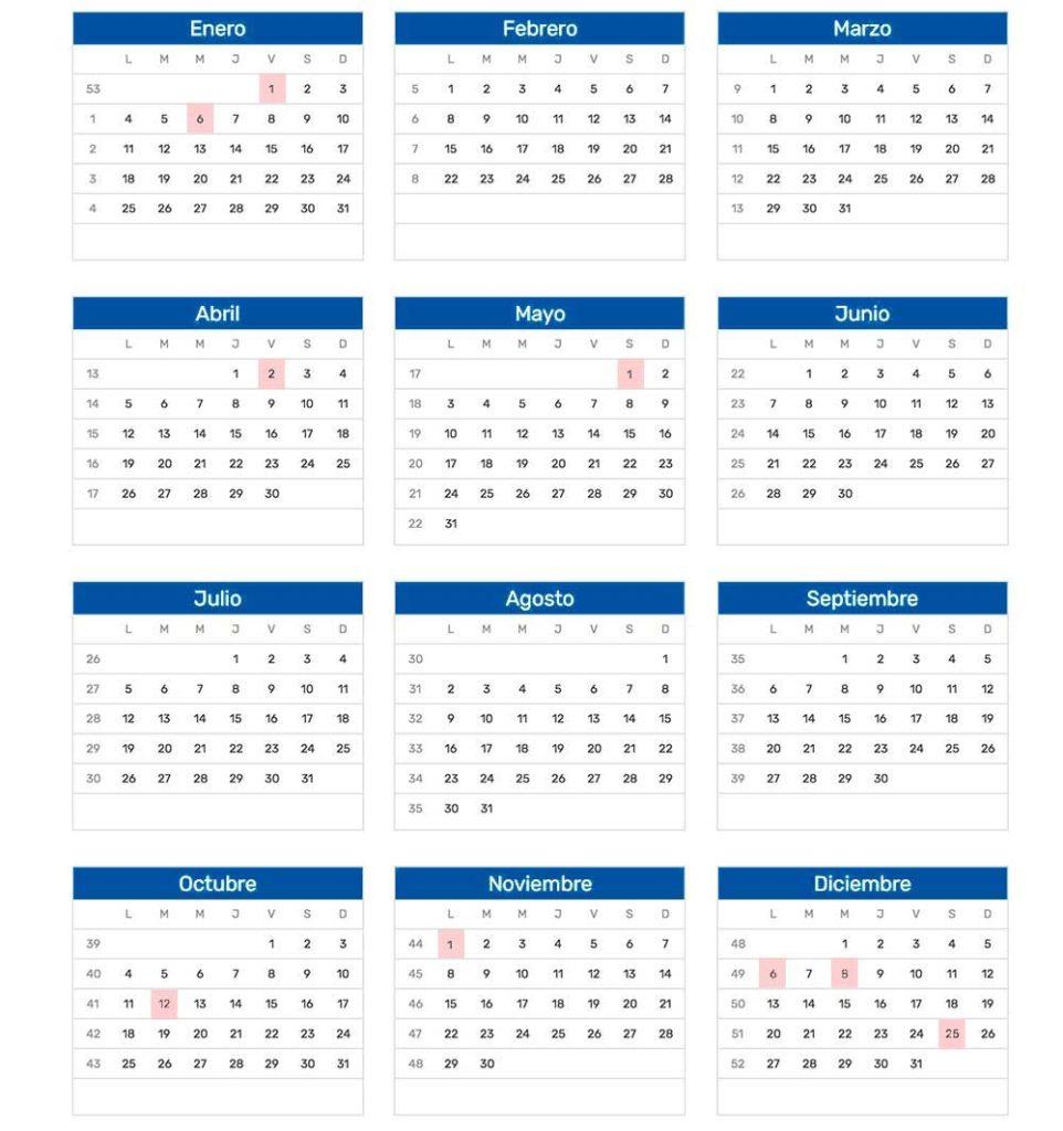 calendario festivos 2021 españa
