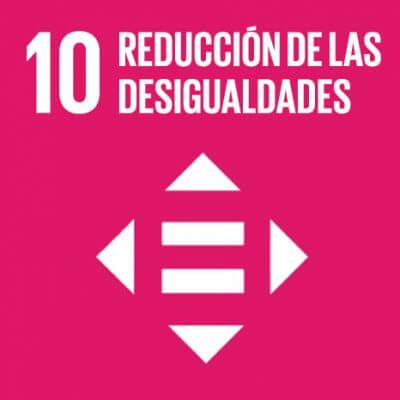 Logo del Objetivo de Desarrollo Sostenible número 10: Reducción de las desigualdades