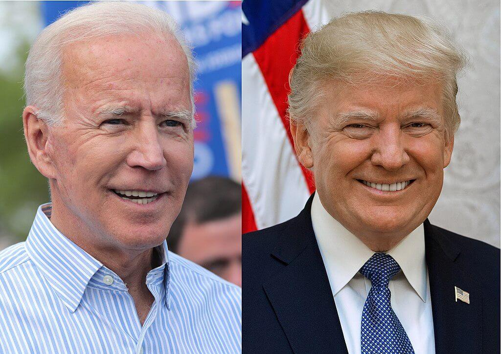 Los rostros de Joe Biden y DOnald Trump